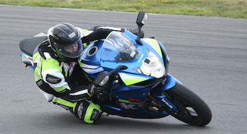 Paul Drinkwater in action at a James Whitham track training day